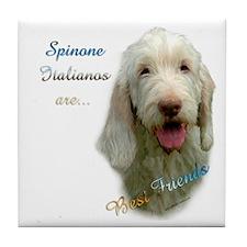 Spinone Best Friend 1 Tile Coaster
