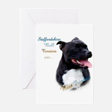 Staffy Best Friend 1 Greeting Cards (Pk of 20)