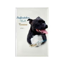 Staffy Best Friend 1 Rectangle Magnet