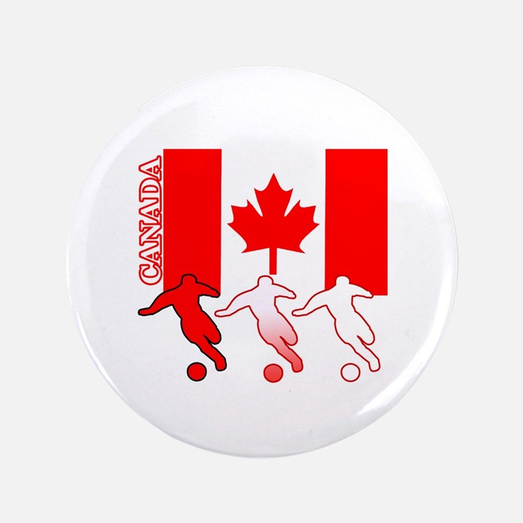 """Canada Soccer 3.5"""" Button (100 pack)"""