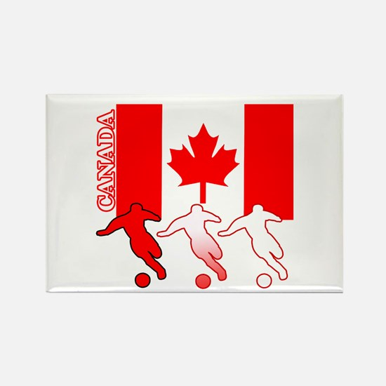 Canada Soccer Rectangle Magnet