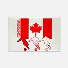 Canada Soccer Rectangle Magnet (100 pack)