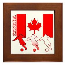 Canada Soccer Framed Tile
