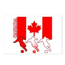 Canada Soccer Postcards (Package of 8)