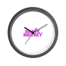 Shave Britney Wall Clock