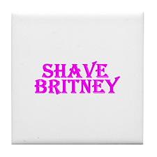 Shave Britney Tile Coaster