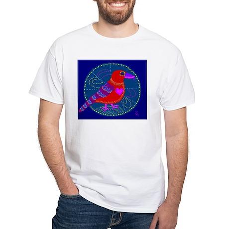 Red Crossbill White T-Shirt