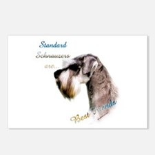 Std. Schnauzer Best Friend 1 Postcards (Package of