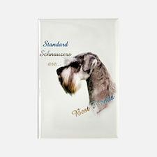 Std. Schnauzer Best Friend 1 Rectangle Magnet (100