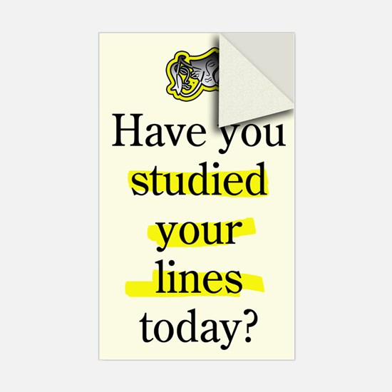 Study Lines Sticker (Single)