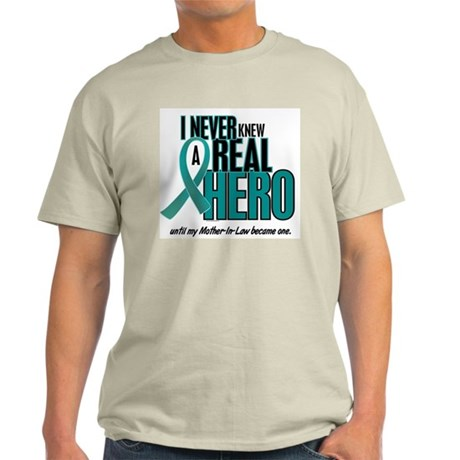 Never Knew A Hero 2 Teal (Mother-In-Law) Light T-S