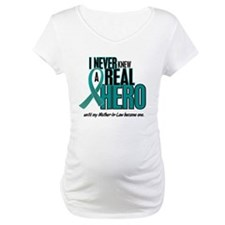 Never Knew A Hero 2 Teal (Mother-In-Law) Shirt