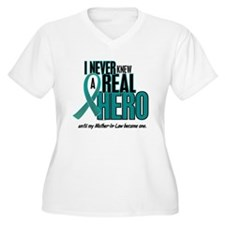 Never Knew A Hero 2 Teal (Mother-In-Law) T-Shirt