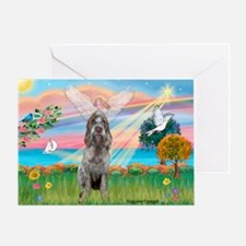 Angel Star /Spinone (12) (r) Greeting Card
