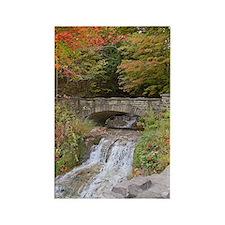 Autumn Bridge Rectangle Magnet