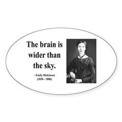 Emily Dickinson 14 Oval Decal