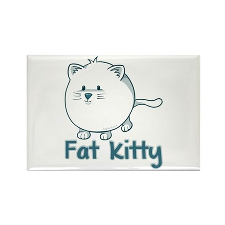 Fat Kitty Rectangle Magnet