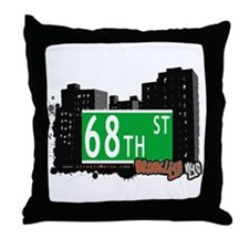 68th STREET, BROOKLYN, NYC Throw Pillow