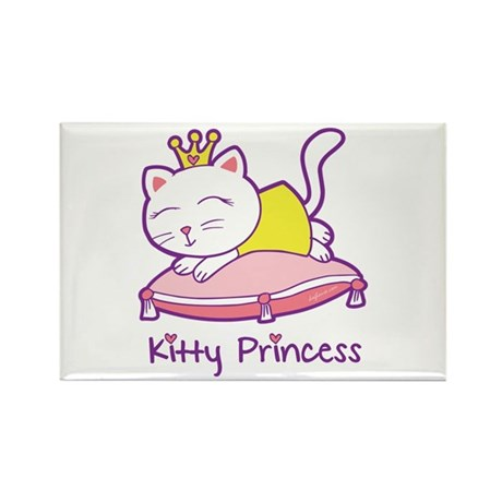 Kitty Princess Rectangle Magnet (10 pack)