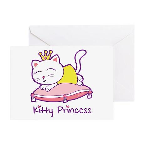 Kitty Princess Greeting Card