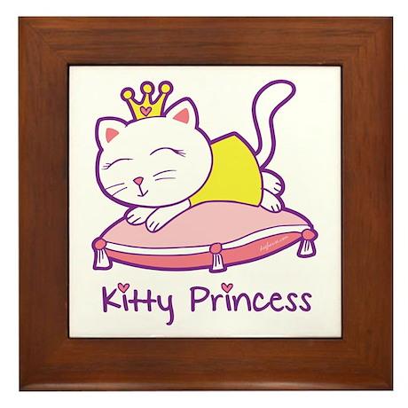 Kitty Princess Framed Tile