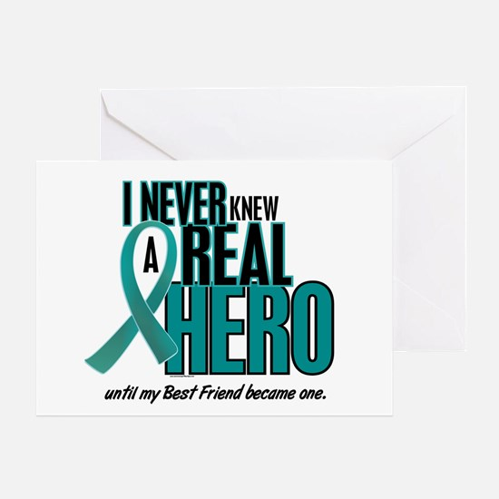 Never Knew A Hero 2 Teal (Best Friend) Greeting Ca