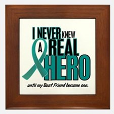 Never Knew A Hero 2 Teal (Best Friend) Framed Tile