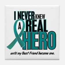 Never Knew A Hero 2 Teal (Best Friend) Tile Coaste