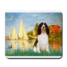 Sailboats & Springer Mousepad