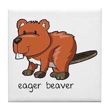 Eager Beaver Tile Coaster