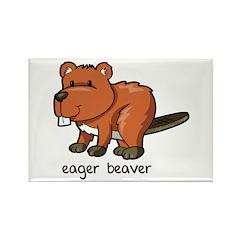 Eager Beaver Rectangle Magnet (10 pack)