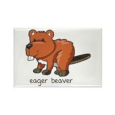 Eager Beaver Rectangle Magnet