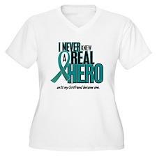 Never Knew A Hero 2 Teal (Girlfriend) T-Shirt
