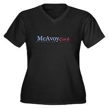 McAvoy - Women's Plus Size V-Neck Dark T-Shirt