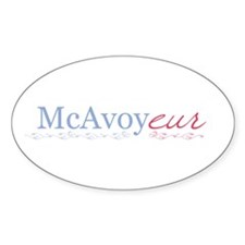 McAvoy - Oval Decal