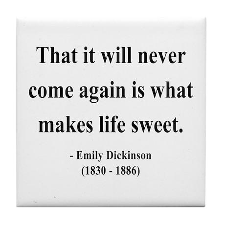 Emily Dickinson 12 Tile Coaster