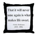 Emily Dickinson 12 Throw Pillow