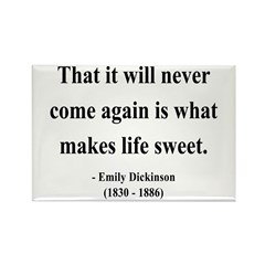 Emily Dickinson 12 Rectangle Magnet