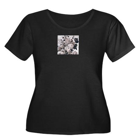 Steel Magnolias Women's Plus Size Scoop Neck Dark