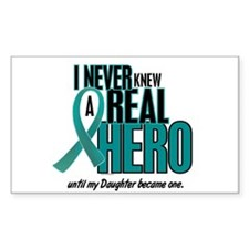 Never Knew A Hero 2 Teal (Daughter) Decal
