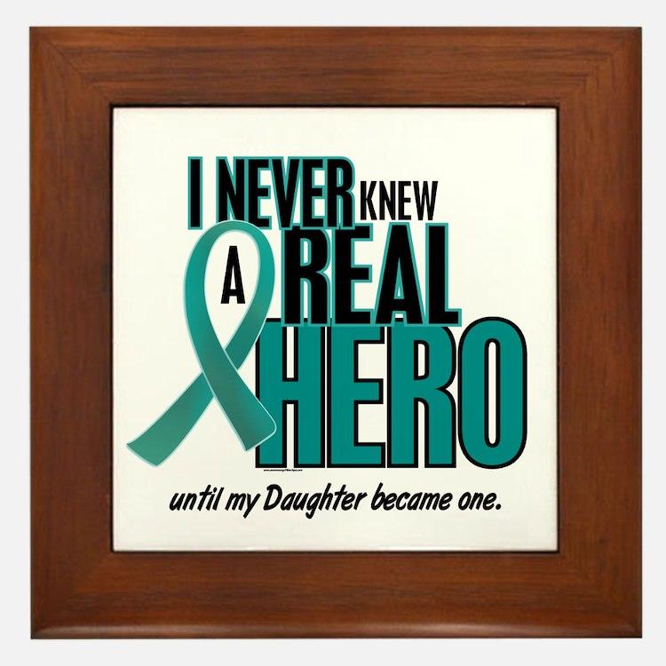 Never Knew A Hero 2 Teal (Daughter) Framed Tile