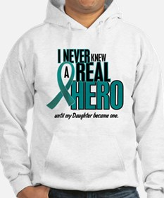 Never Knew A Hero 2 Teal (Daughter) Hoodie