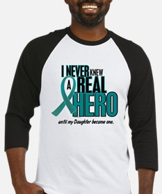 Never Knew A Hero 2 Teal (Daughter) Baseball Jerse