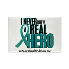 Never Knew A Hero 2 Teal (Daughter) Rectangle Magn