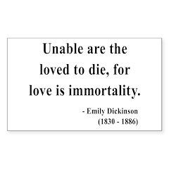 Emily Dickinson 11 Rectangle Decal