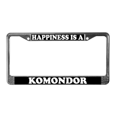 Happiness Is A Komondor License Plate Frame