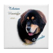 Tibetan Mastiff Best Friend 1 Tile Coaster