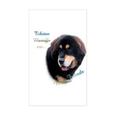 Tibetan Mastiff Best Friend 1 Rectangle Decal