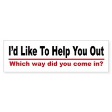 I like to help you out Bumper Bumper Sticker