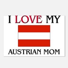 I Love My Austrian Mom Postcards (Package of 8)
